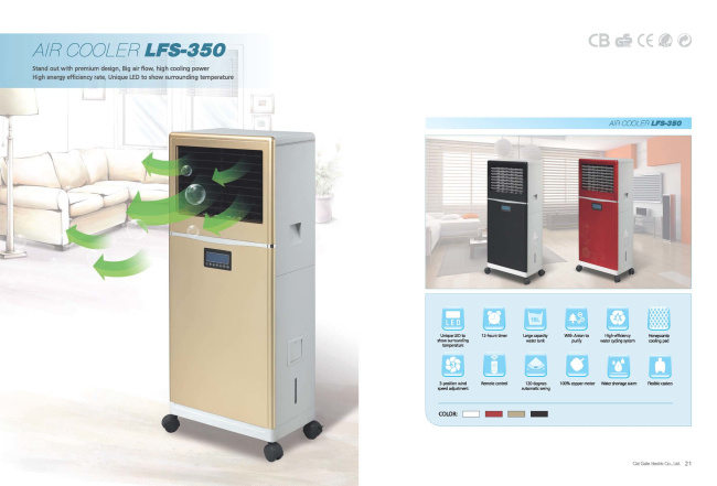 Non-Freon Environment-Friendly Outdoor and Semioutdoor Evaporative Water Air Cooler Lfs-350 pictures & photos