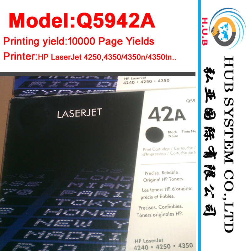 Printer Laser Cartridge Toner Q5942A/Q5942X (Original newcartridge) pictures & photos