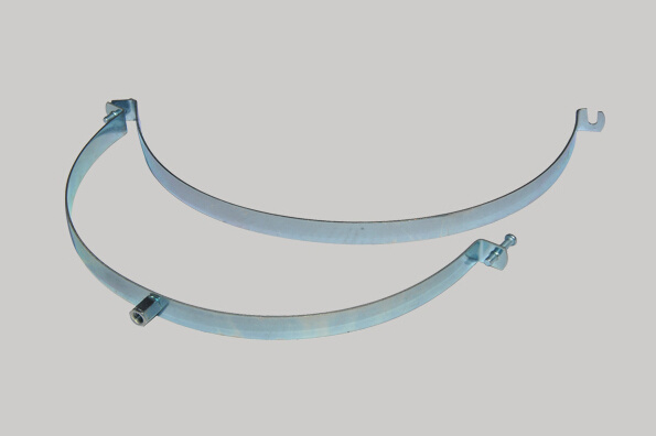 Ventilation Pipe Clamps with Rubber (100mm)