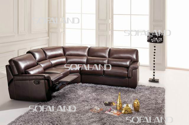 Recliner Leather Corner Sofa