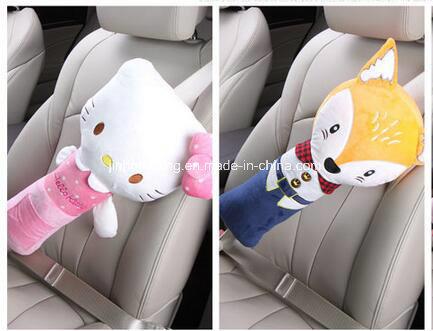 China High Quatity Hello Kitty Plush Car Safety Seat Belt Cover
