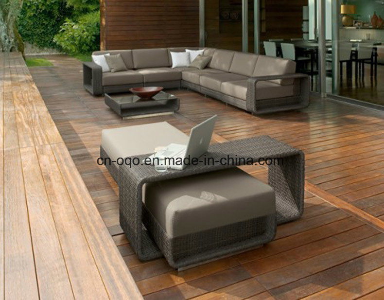 Outdoor L Shape Sofa Leisure Sofa Garden Furniture Rattan / Wicker Sofa (S220)