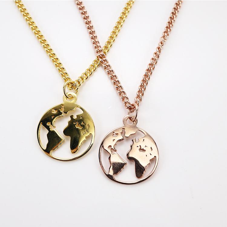 China Custom Round Hollow Astronomic Design Jewelry Map Silver Rhodium 18k Gold Pendant Necklace China Fashion Necklace And Fashion Jewelry Price
