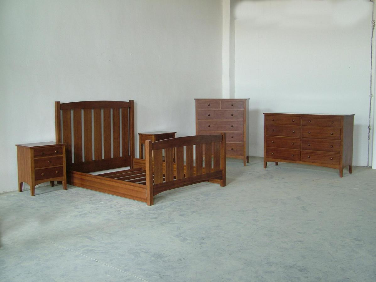 China Solid Bamboo Bedroom Sets Lb