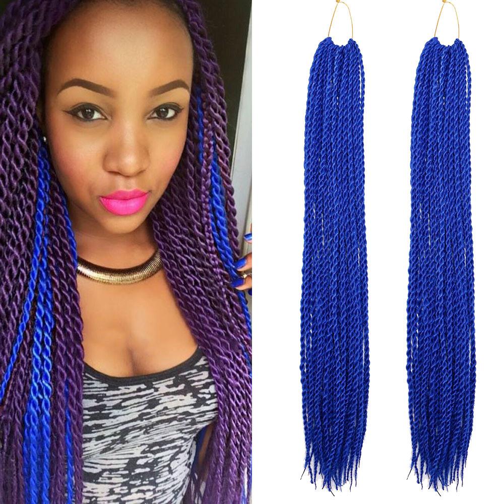 China Long Afro Twist Box Braid Kanekalon Synthetic Hair Extension