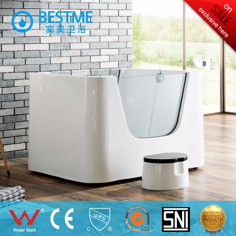 China Hot Sale Freestanding Side Glass Bathtub for Standing Baby ...
