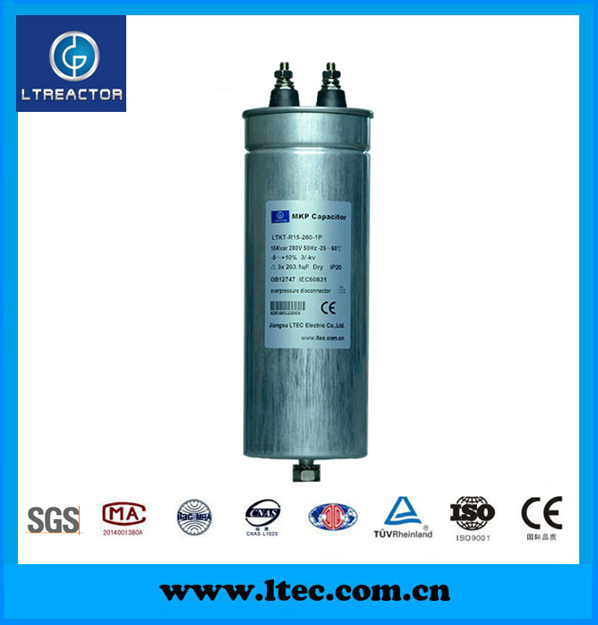 China 15kvar Single Phase Low Voltage Power Capacitor Banks 50hz 280v China Capacitor Electronic Component
