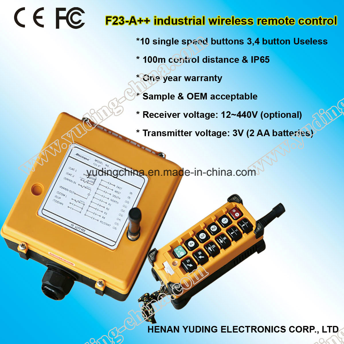 [Hot Item] F23-A++ 12V Wireless Radio Remote Control RC Transmitter Receiver