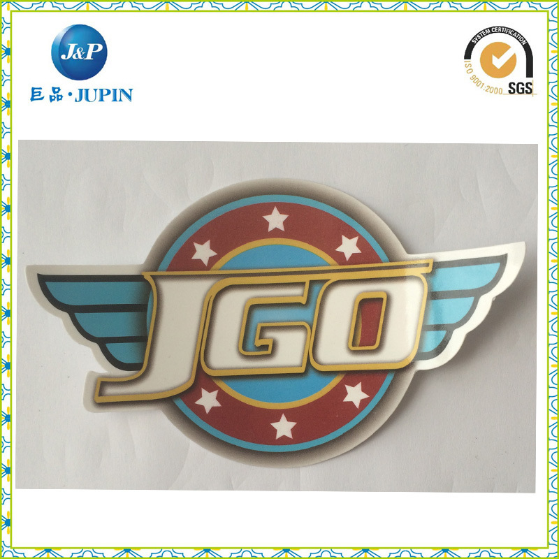 High Quality Oval PVC Bumper Sticker Printing for Car Sticker (JP-S162)
