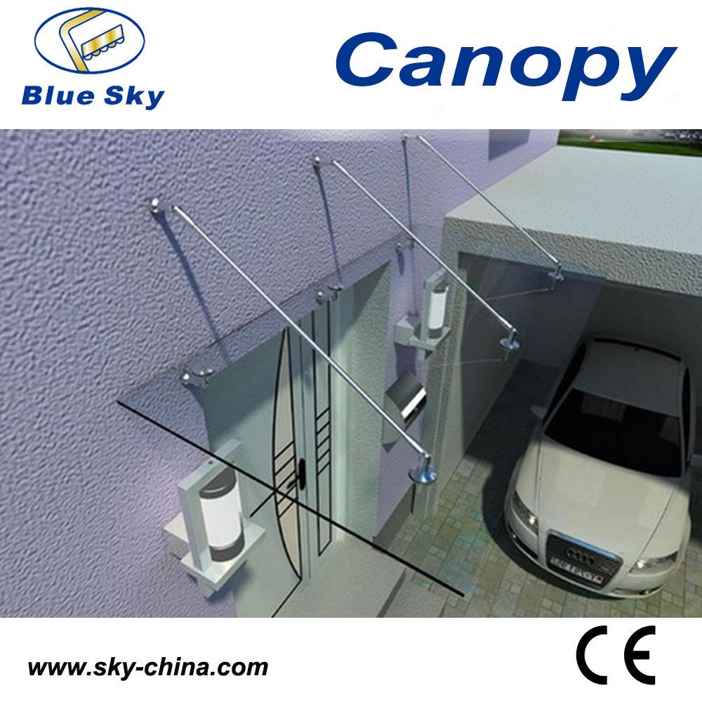 China Aluminium Frame Fiberglass Canopy For Balcony Fans B900