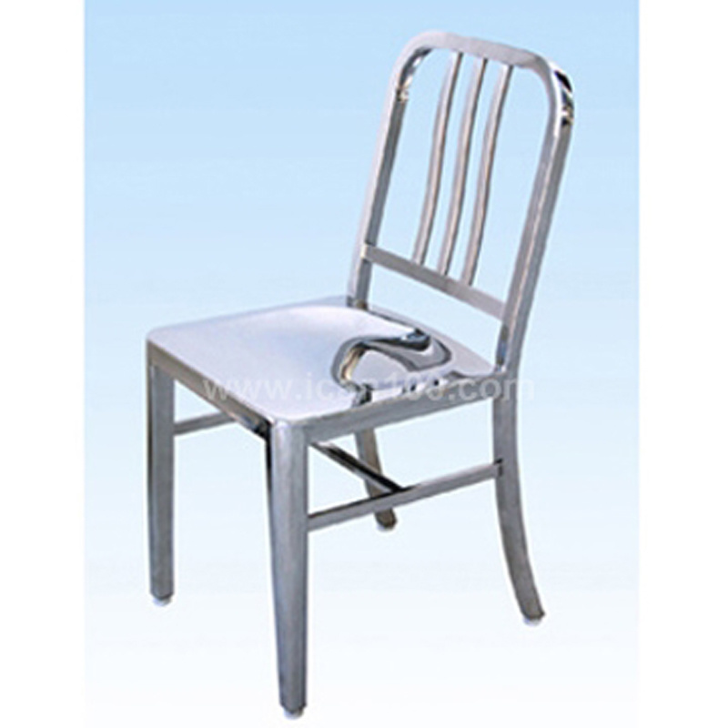 China American Standard Metal Frame Dining Chair Stainless Steel ...