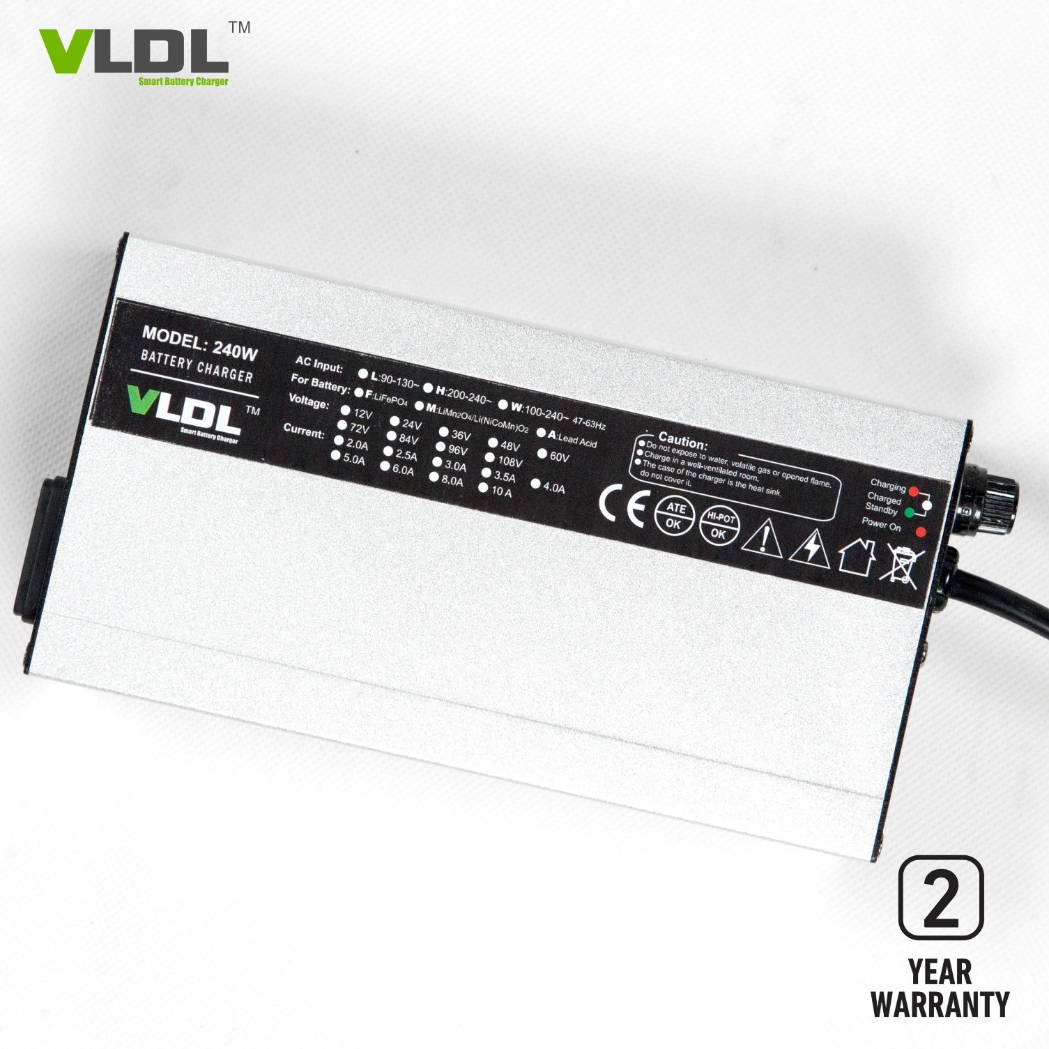 [Hot Item] Smart 96V 2A LiFePO4/Li-ion Battery Charger, Worldwide  110-230VAC Input