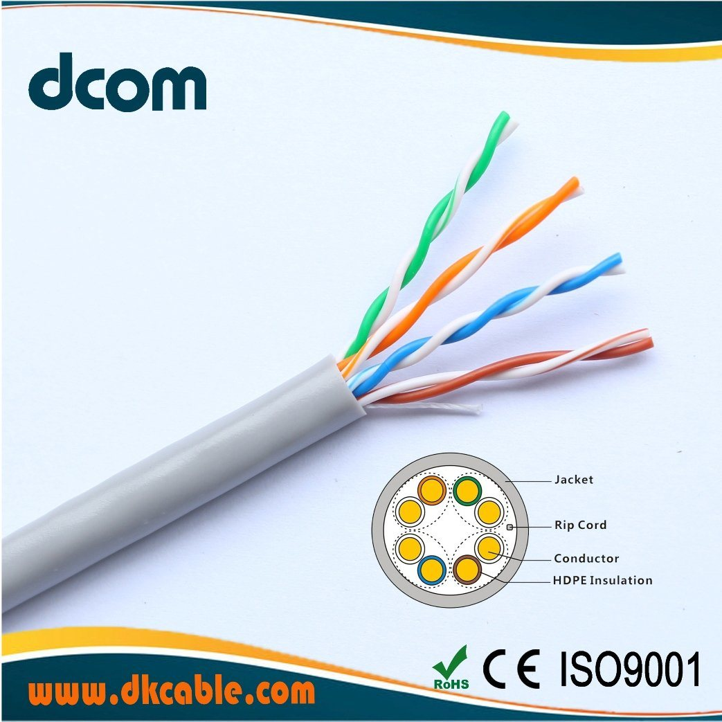 China Computer Internet Cable Cat5e Copper 24awg Twist Lan Wiring Cat 5 Ethernet 5e
