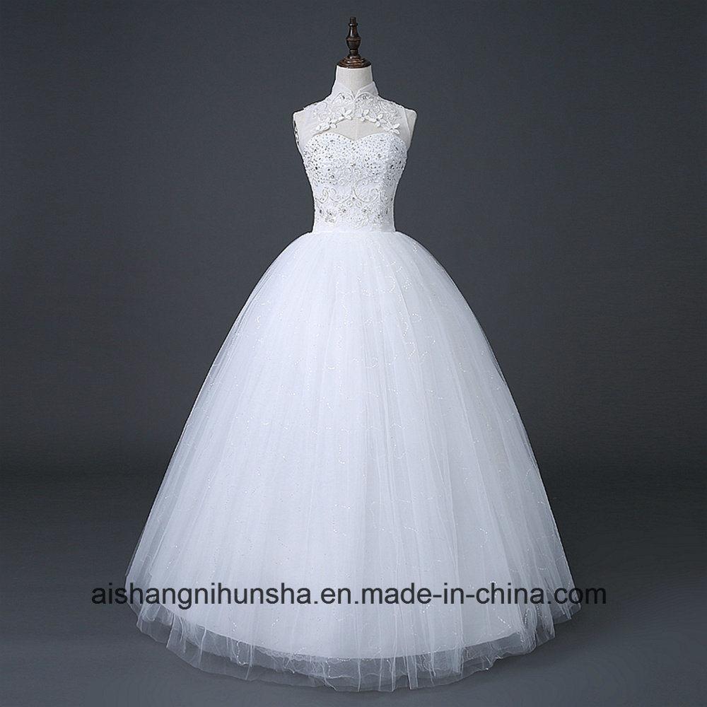Chinese Simple Halter Wedding Dress of Princess Wedding Dress ...