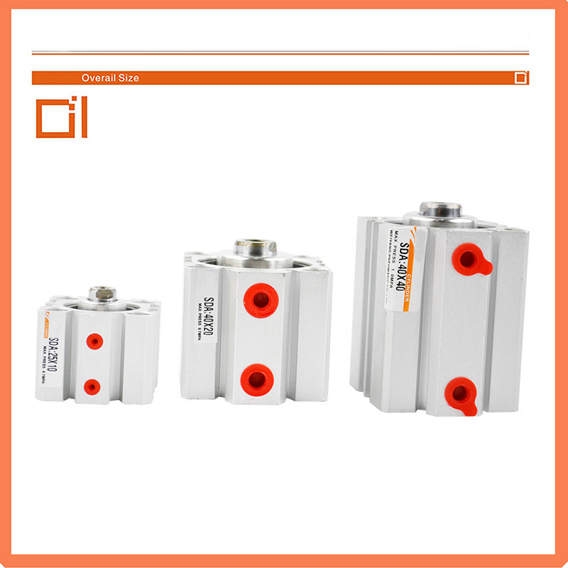 Sda Series Pneumatic Compact Air Cylinder