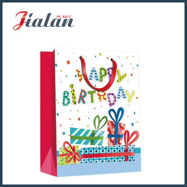 Hot Item Wholesale Cheap 4c Paper Printed Happy Birthday Shopping Gift Bags