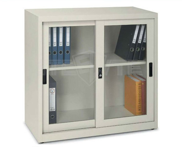 China Uae Style Small Library Furniture Steel Display Cabinet Glass
