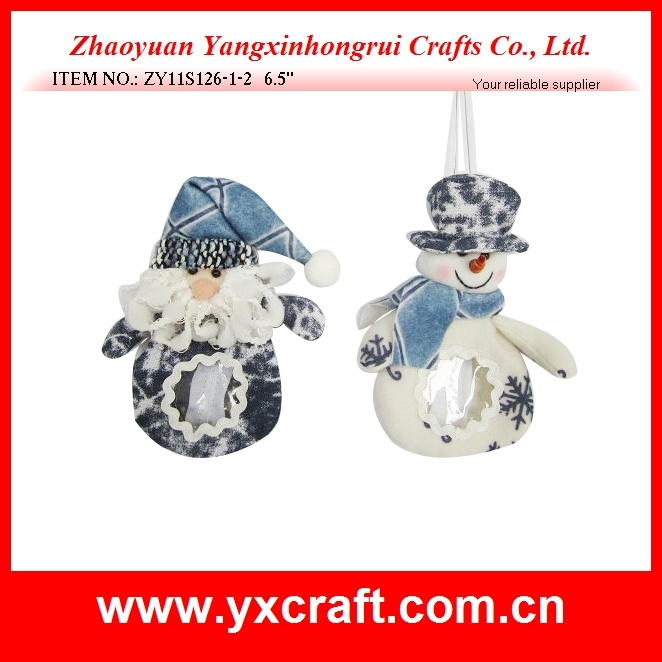 Christmas Decoration (ZY11S126-1-2) Hanging Christmas Candy Bag Gift Craft
