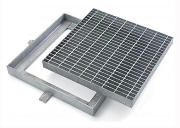China Hot Dip Galvanized Carbon Steel Manhole Cover
