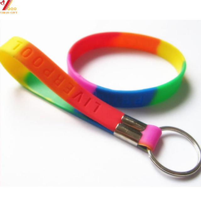 Custom Printing Logo Silicone Wristband with Metal Ring (YB-PK-15) pictures & photos