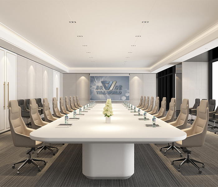 Hot Item Modern White Office Furniture Conference Boardroom Meeting Room Table