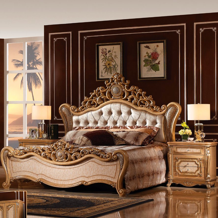 [Hot Item] Classic King Size Bedroom Bed for Bedroom Furniture