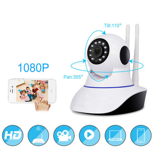 [Hot Item] HD 360 Degrees Rotation Night Vision Remote Online Viewing Smart  Home Security IP Alarm Video WiFi Camera