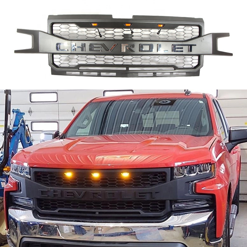 China Auto Pickup Truck Parts Black Abs Front Radiator Grille Accessories For Chevy Chevrolet Silverado 2019 China Car Grille Front Grille