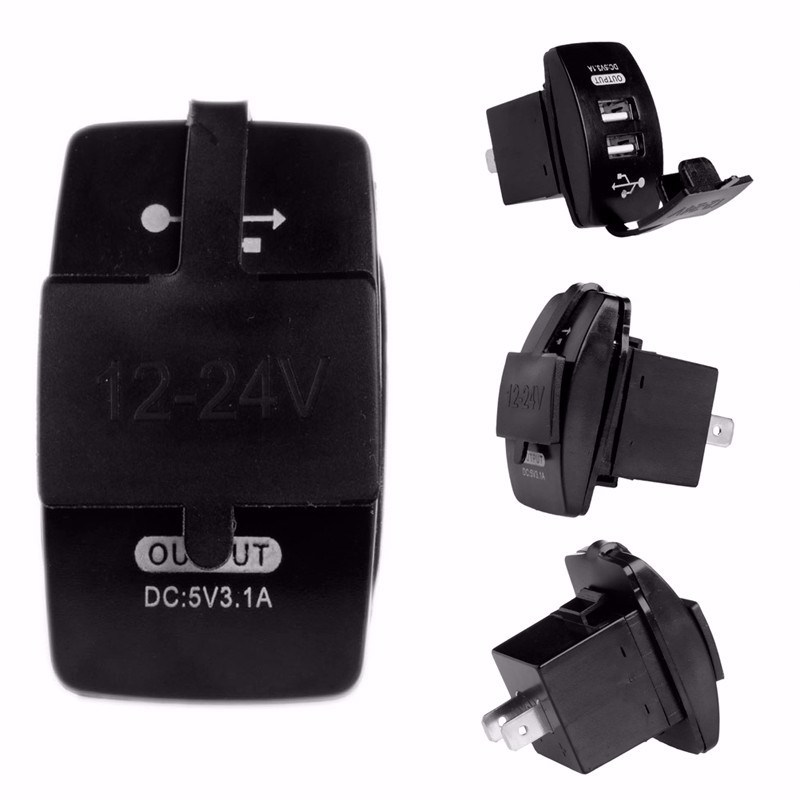Car Charger Cigarette Lighter Socket Splitter Power Adapter Outlet 12V Dual USB