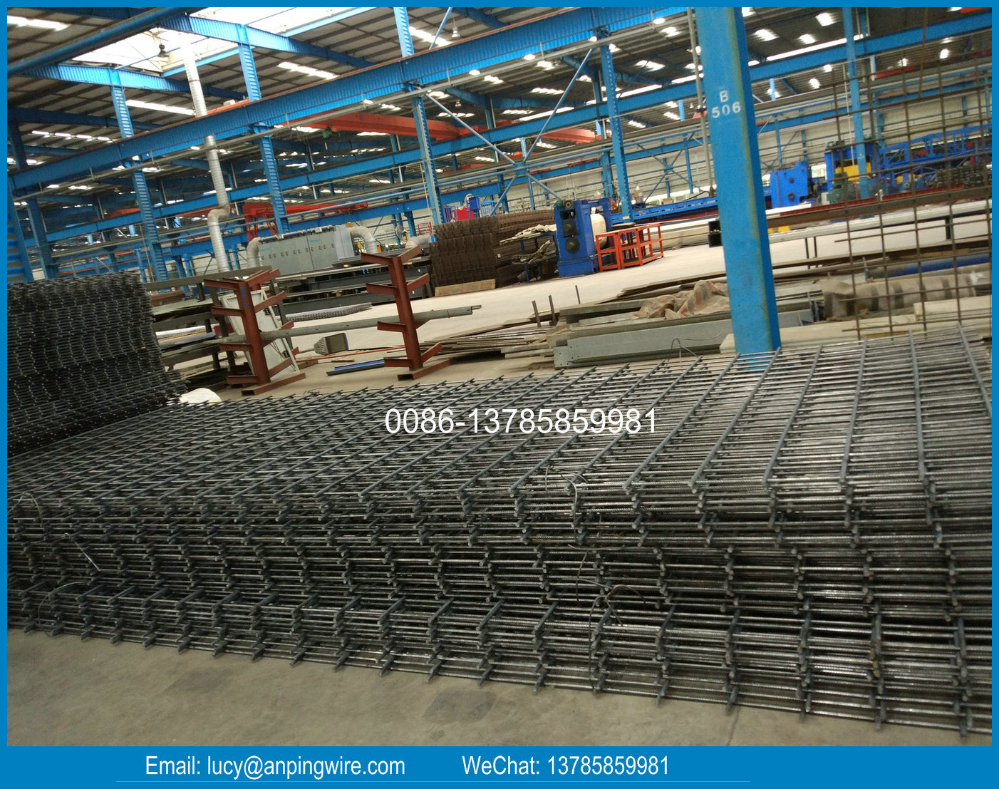 China Hot Sale Ribbed Concrete Reinforcing Steel Welded Wire Mesh ...