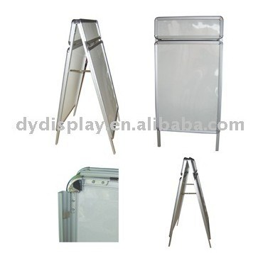 china folding pavement sign board poster stand for advertising