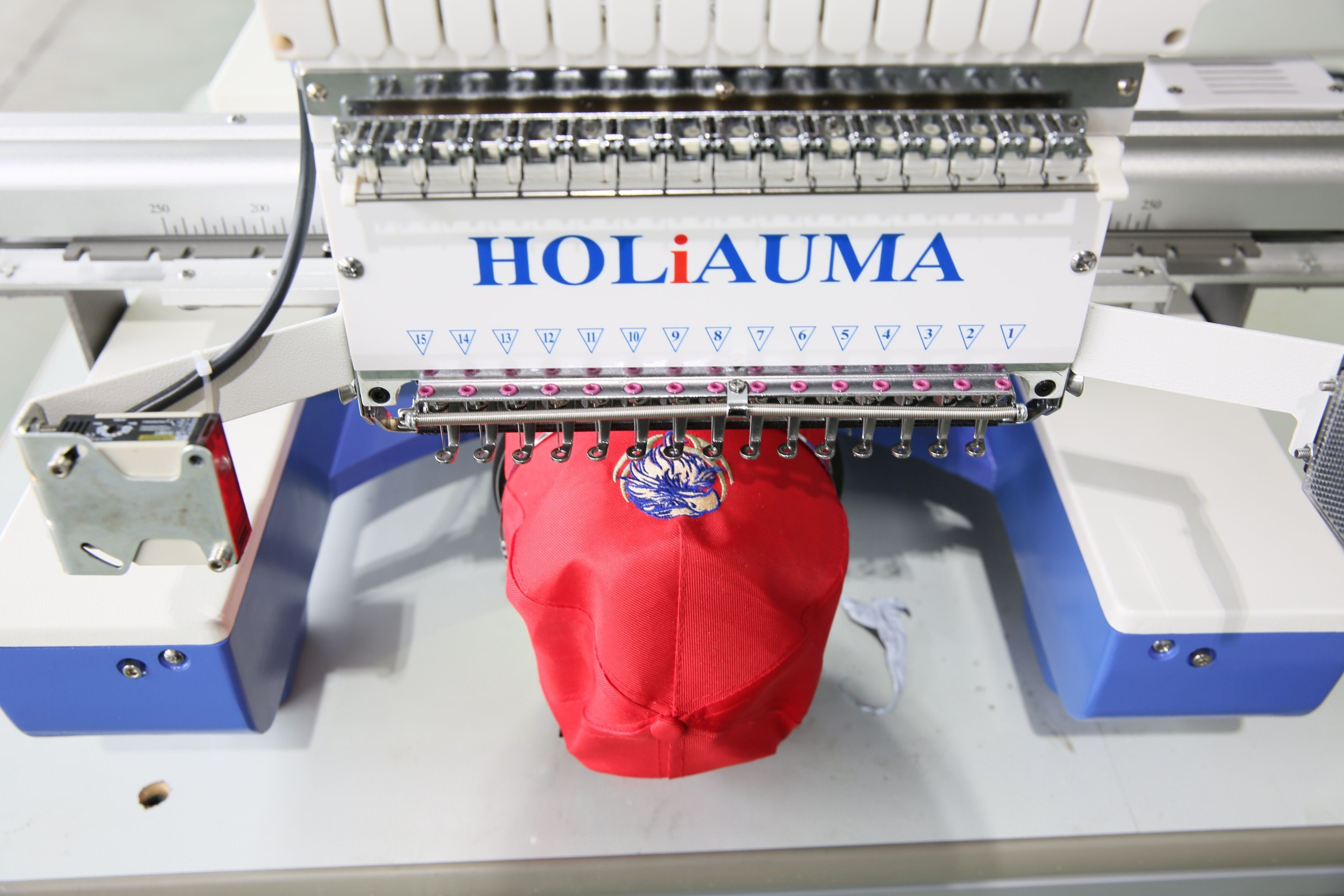 China The Best 15 Color One Head Computer Embroidery Machine / Hat