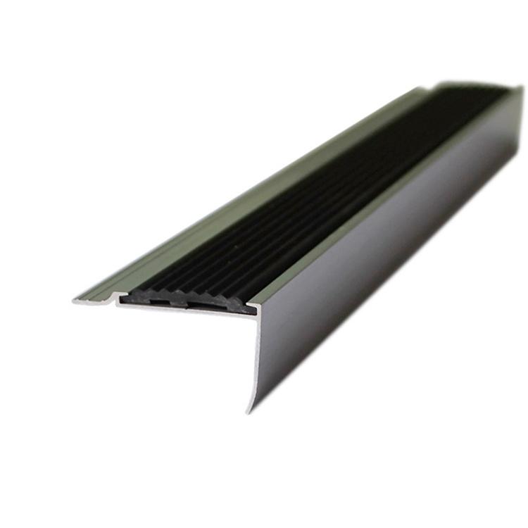 China Niu Yuan Factory Direct Sale Anti Slip Black Metal Aluminum Stair  Nosing   China Aluminum Trim, Stair Nosing