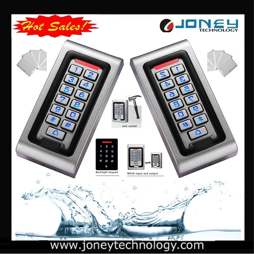 Metal Waterproof Access Control Keypad Entry.
