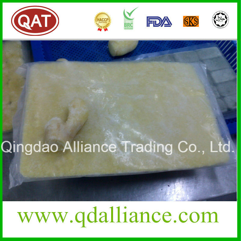 Frozen Ginger Puree Tablet Crushed Ginger with Eco Cert pictures & photos