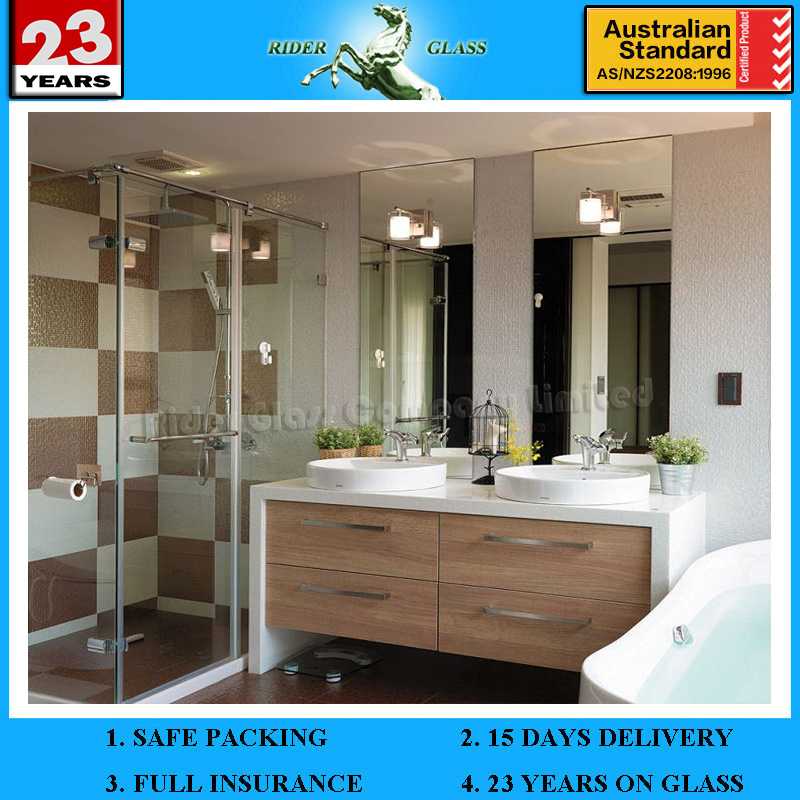 China 1.5-6mm Bathroom Bath Mirror Glass - China Bathroom Mirror ...