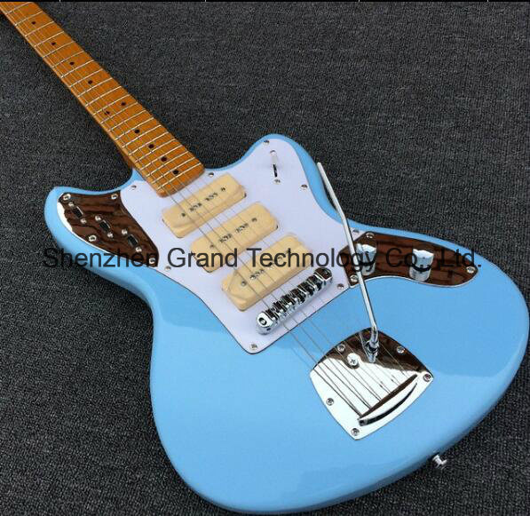 China Jazzmaster Deluxe Blue Jaguar Electric Guitar with S-S-S ...