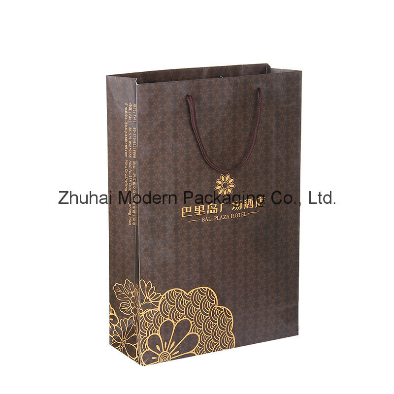 Customized Design Luxury Paper Bag with Logo Stamping