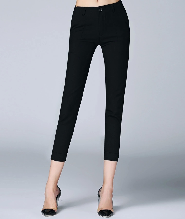 Latest Fashion Design Summer Black Ladies Sexy Women′s Pants
