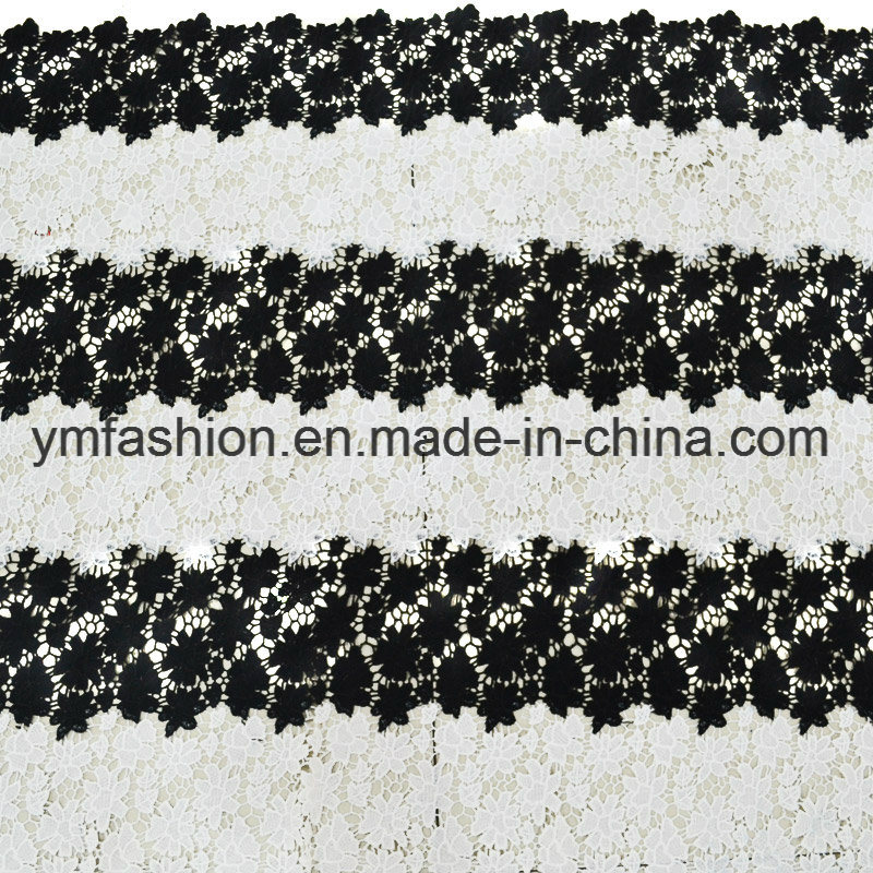 Double Colors 100% Polyester Lace Fabric Garment Accessorie for Dress 0006