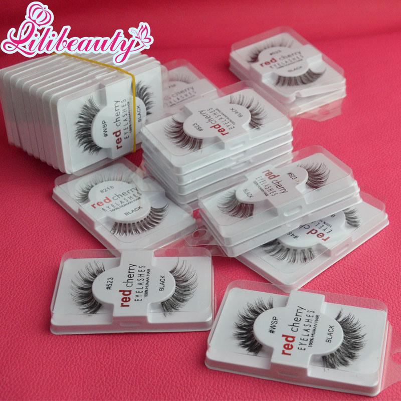 90c906542ae Factory Wholesale Price High Quliay Red Cherry Fake Human Hair Eyelashes