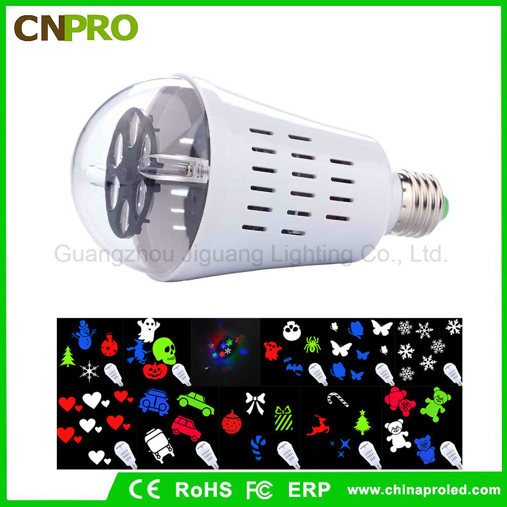 [Hot Item] Auto Rotating Snowflake LED Bulb Stability Bar Stage Lighting  for Entertainment Stage DJ