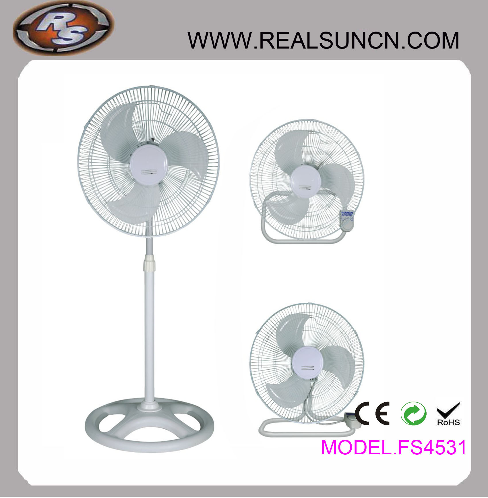 18inch Industrial 3 in 1 Fan-Stand Table Fan, Wall Fan 3 in 1-Competitive Price