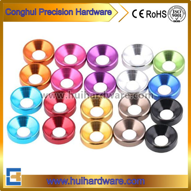 CNC Machining Aluminum Countersunk Washers, Anodized Aluminum Washers
