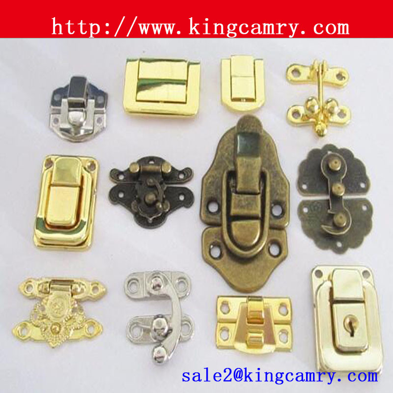 China Mini Gift Box LockMetal LatchWooden Box Metal Lock Latch
