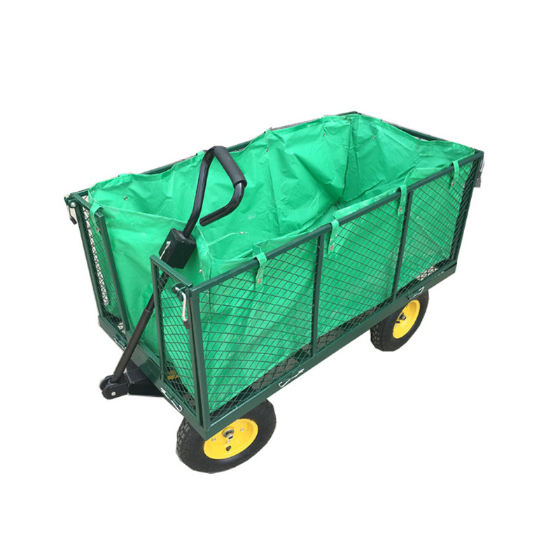 China OEM Garden Utility Cart Mesh Wagon with Removable Sides ...