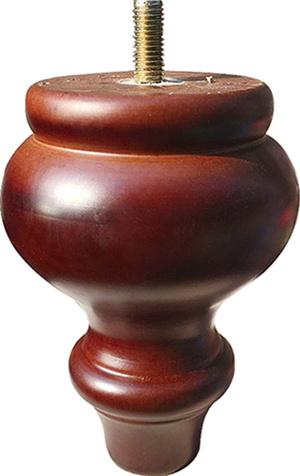 Hot Item In Stock Antique Walnut Carved Wooden Sofa Furniture Leg Mj 0329