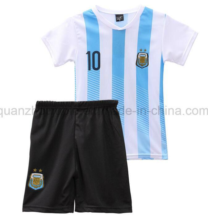45e3cb18b31 China OEM Kids Children Sport Breathable Polyester Soccer Uniform ...