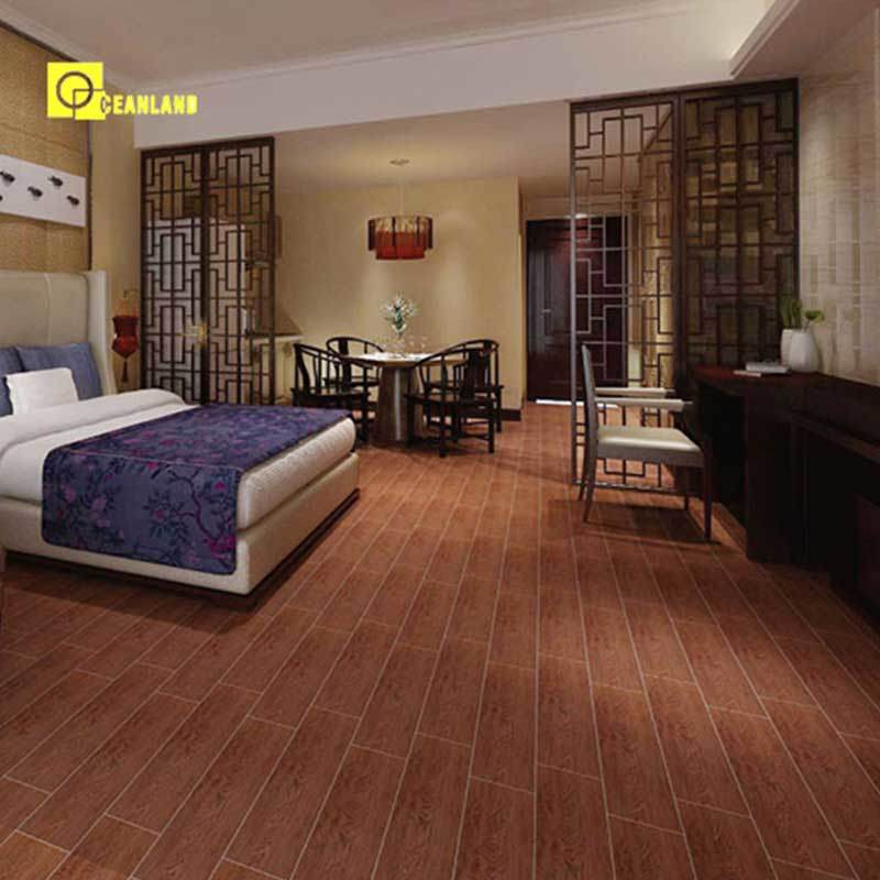China Price Wood Look Ceramic Floor Tile For
