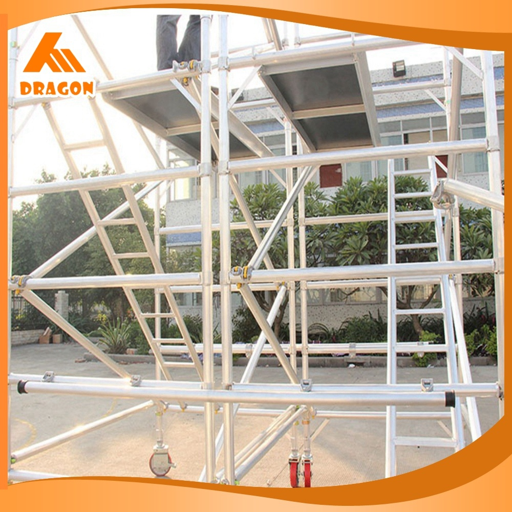 China Multi Purpose Scaffold Ladder, Frame Scaffold Stairs For Sale   China  Aluminium Stair Stringers, Frame System Ladder Type Scaffolding